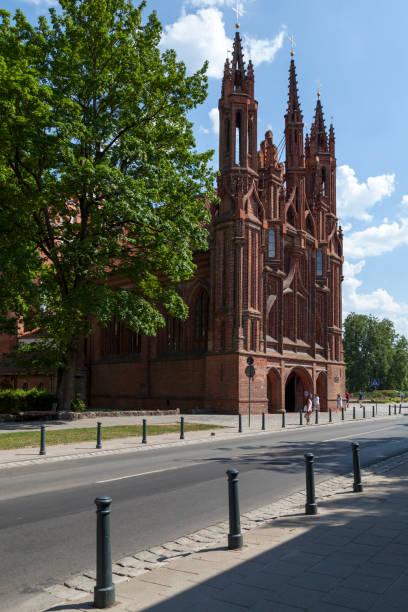 St Anne's Church in Vilnius stock photo