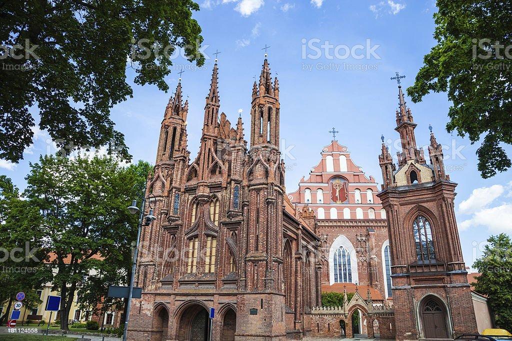 St. Anne's Gothic Church in Vilnius royalty-free stock photo
