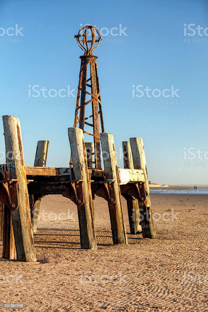 St Annes Jetty stock photo