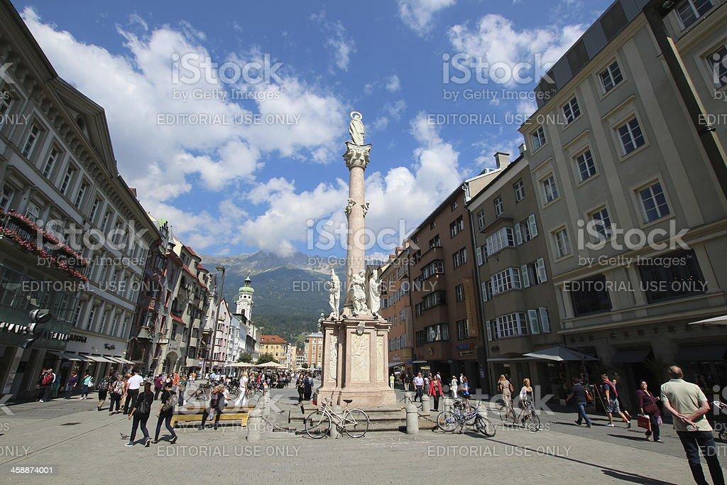 St Ann's Column, Annasäule, City Centre Innsbruck, Austria stock photo