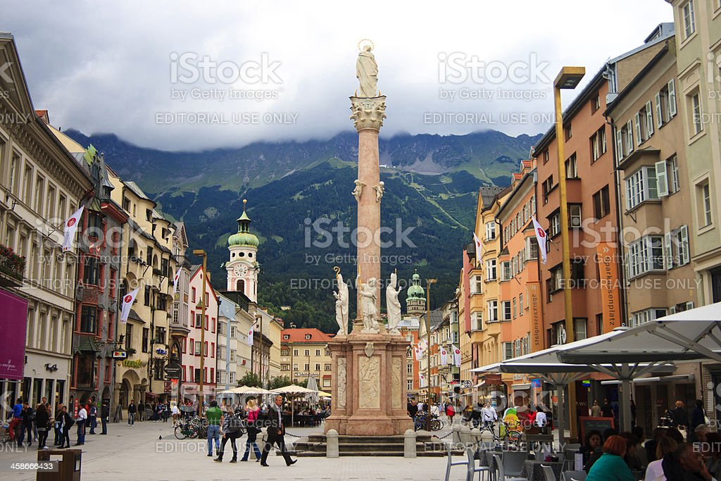 St Ann's Column (Annasaule), Innsbruck, Austria royalty-free stock photo