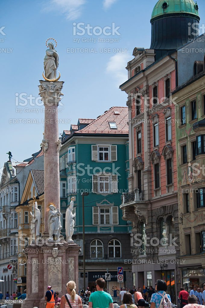 St. Ann's Column, Innsbruck, Austria stock photo