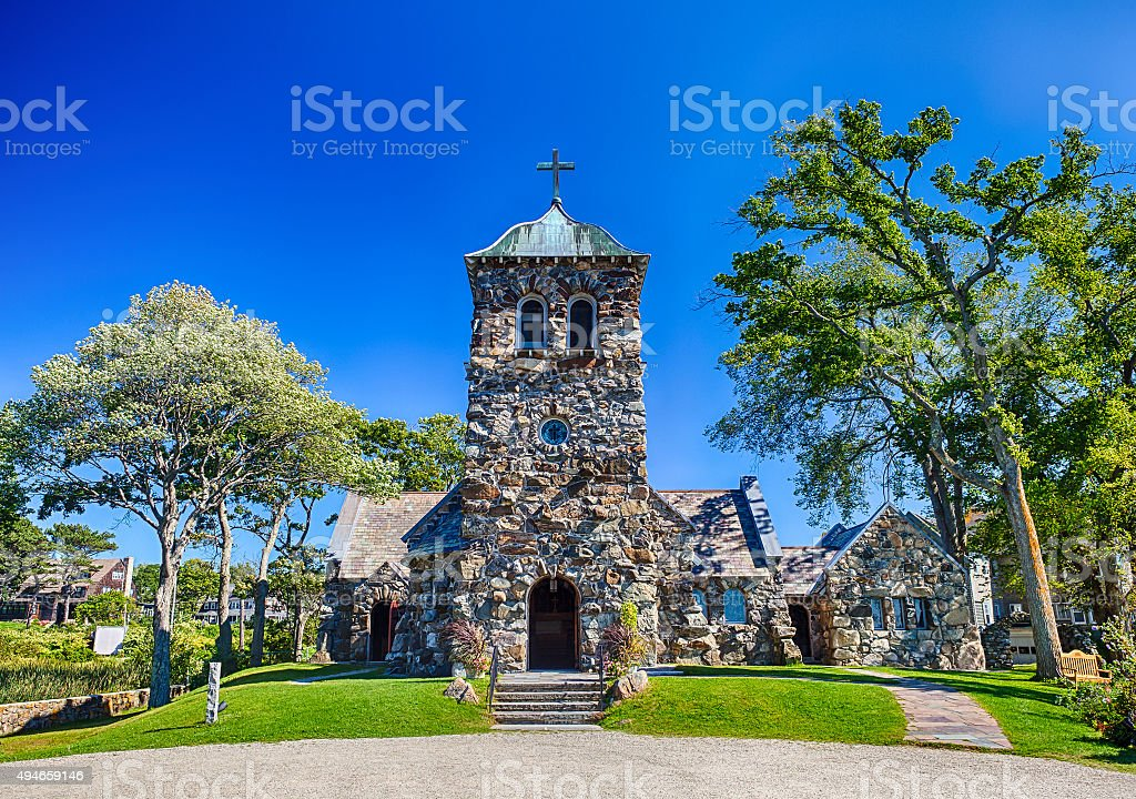 St. Ann's Episcopal Church In Kennebunkport, Maine stock photo