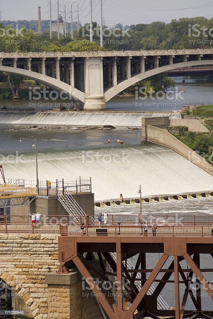 St. Anthony Falls Dam royalty-free stock photo