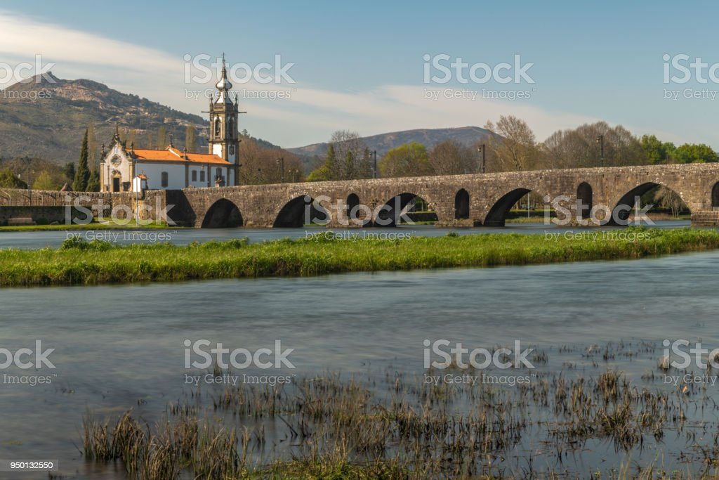 Santo Antonio da Torre Velha church stock photo