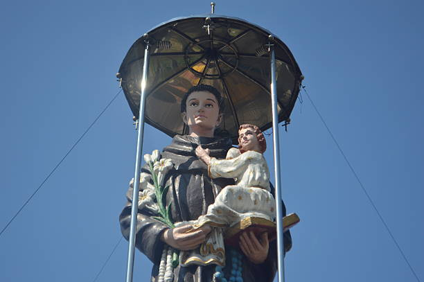 st anthony - st. anthony of padua stock photos and pictures