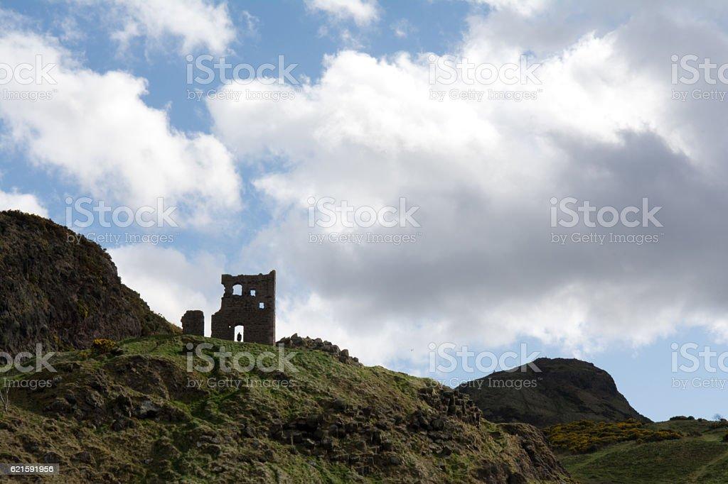 St. Anthony's Chapel Ruins, Edinburgh stock photo