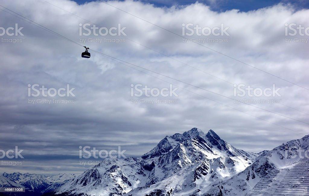 St Anton - Ski lift - Skiing stock photo