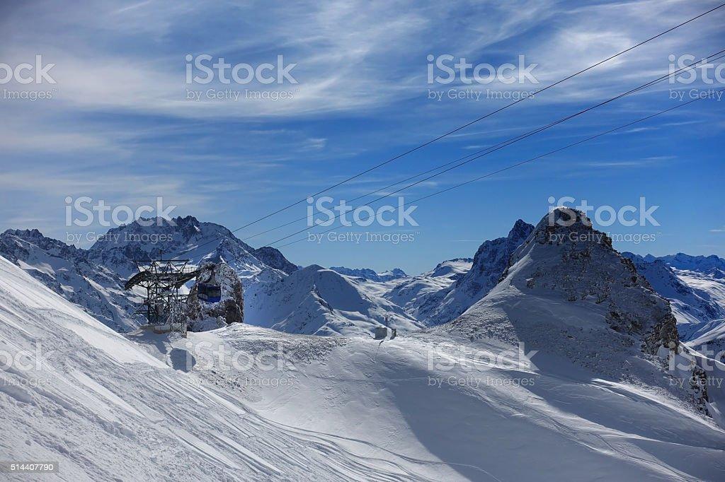 St Anton - Ski lift Valluga stock photo