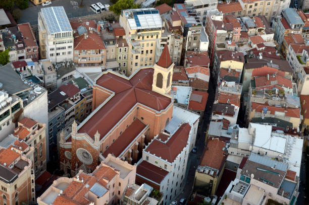 st antonio church beyoğlu i̇stanbul - istiklal avenue bildbanksfoton och bilder