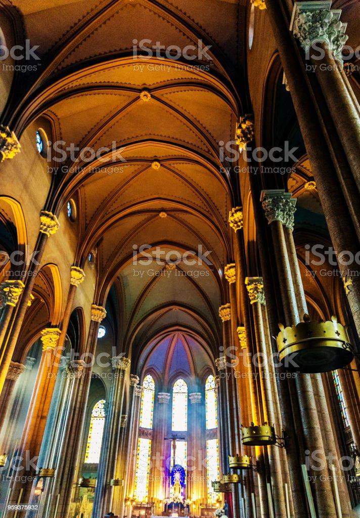 St. Antuan Catholic Church, Istiklal Street, Beyoglu stock photo