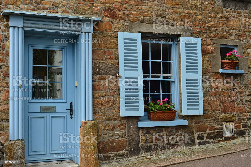 St Aubin cottage, Jersey, U.K. stock photo