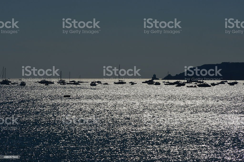 St Aubin, Jersey, U.K. stock photo