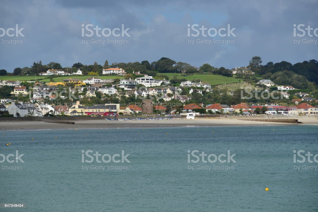 St Aubins Bay, Jersey, U.K. stock photo