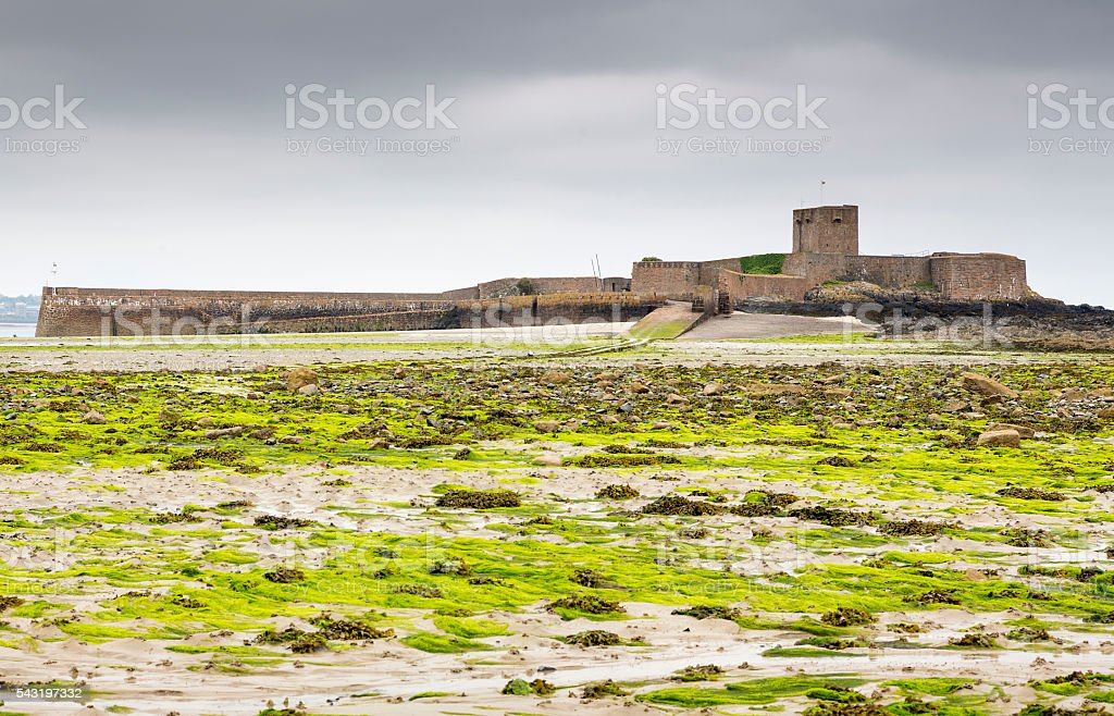 St. Aubin's Fort on Jersey island, UK stock photo