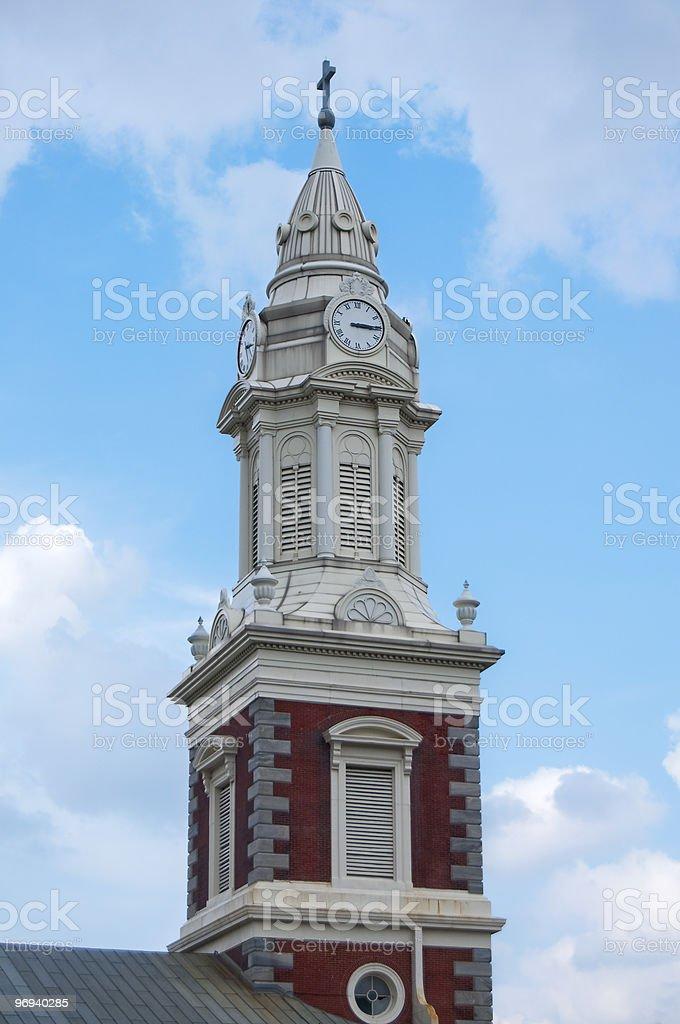 St. Augustine Church Steeple, Philadelphia, Pennsylvania royalty-free stock photo