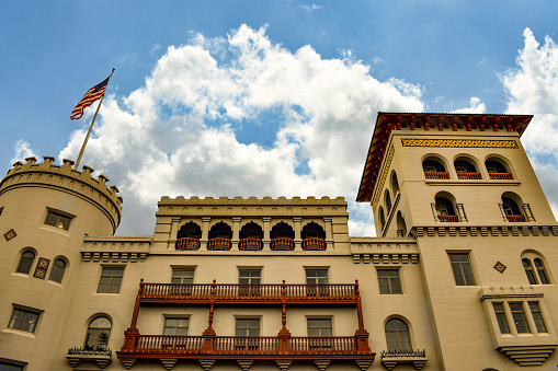 St. Augustine, Florida. January 26 , 2019. Casa Monica Hotel & Spa is Old Cordova Hotel at Old Town in Florida's Historic Coast .