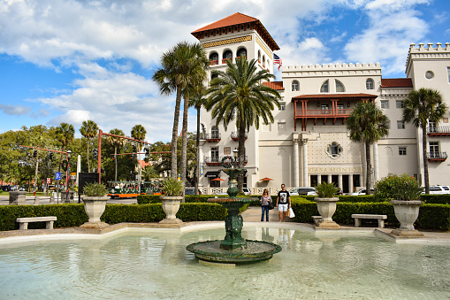 St. Augustine, Florida. January 26 , 2019. Florida's Casa Monica Resort & Spa . Old The Cordova Hotel in Florida's Historic Coast .