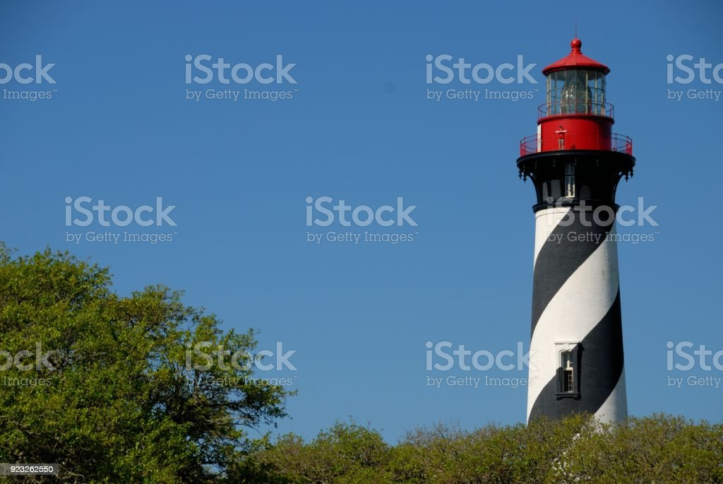 St. Augustine, Florida Lighthouse stock photo