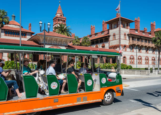 St. Augustine, Florida Street Scene stock photo