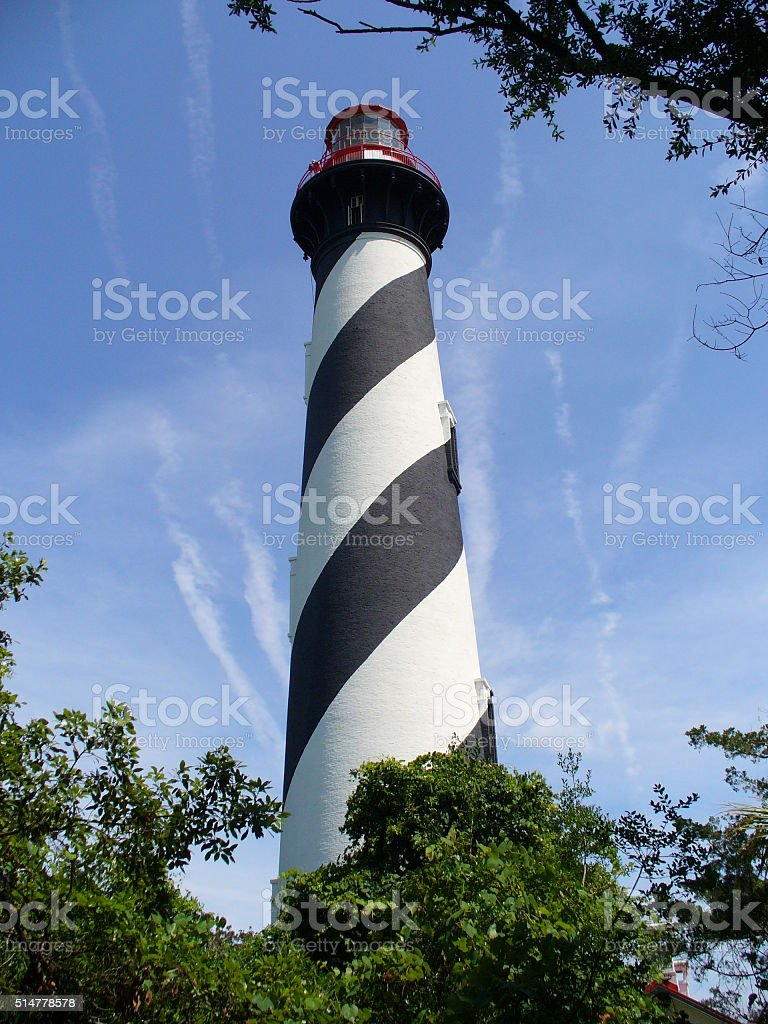 St. Augustine Lighthouse stock photo