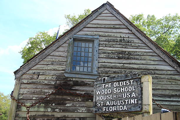 St Augustine The Oldest Wood School House Stock Photo