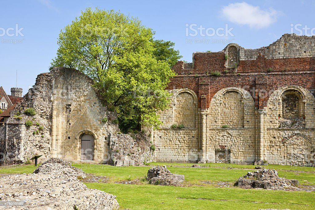 St Augustines Abbey in Canterbury royalty-free stock photo