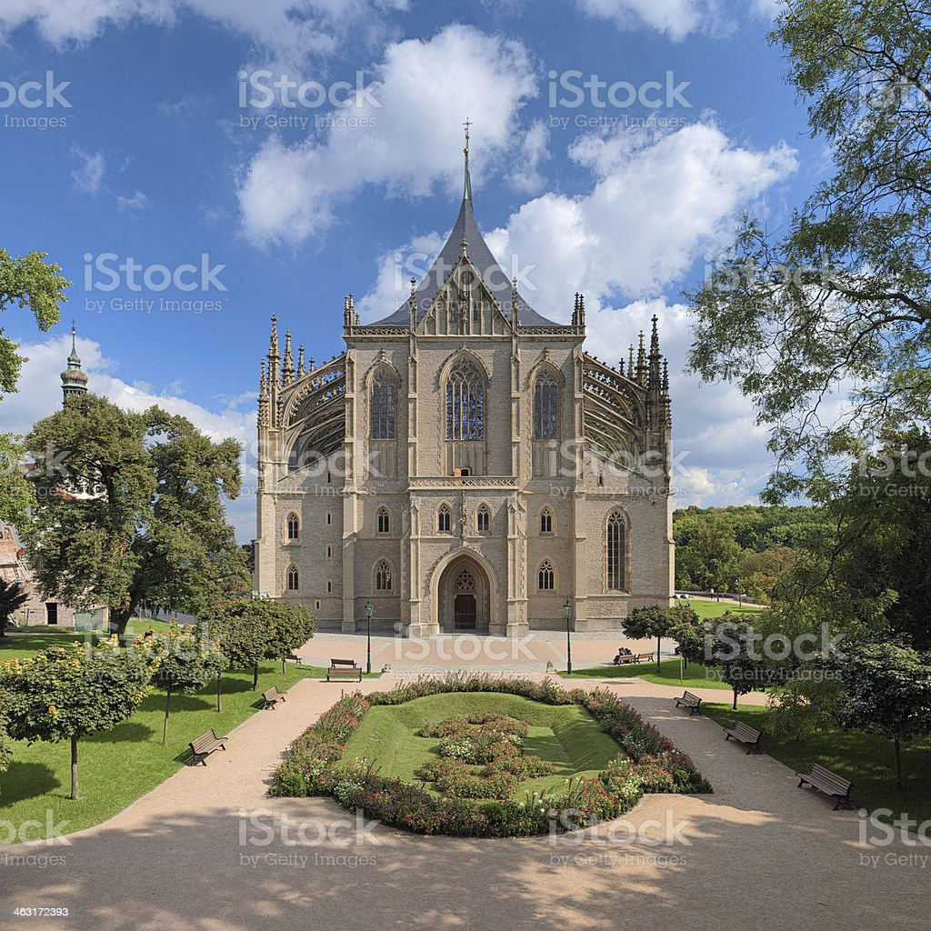 St. Barbara's Church in Kutna Hora, Czech Republic stock photo