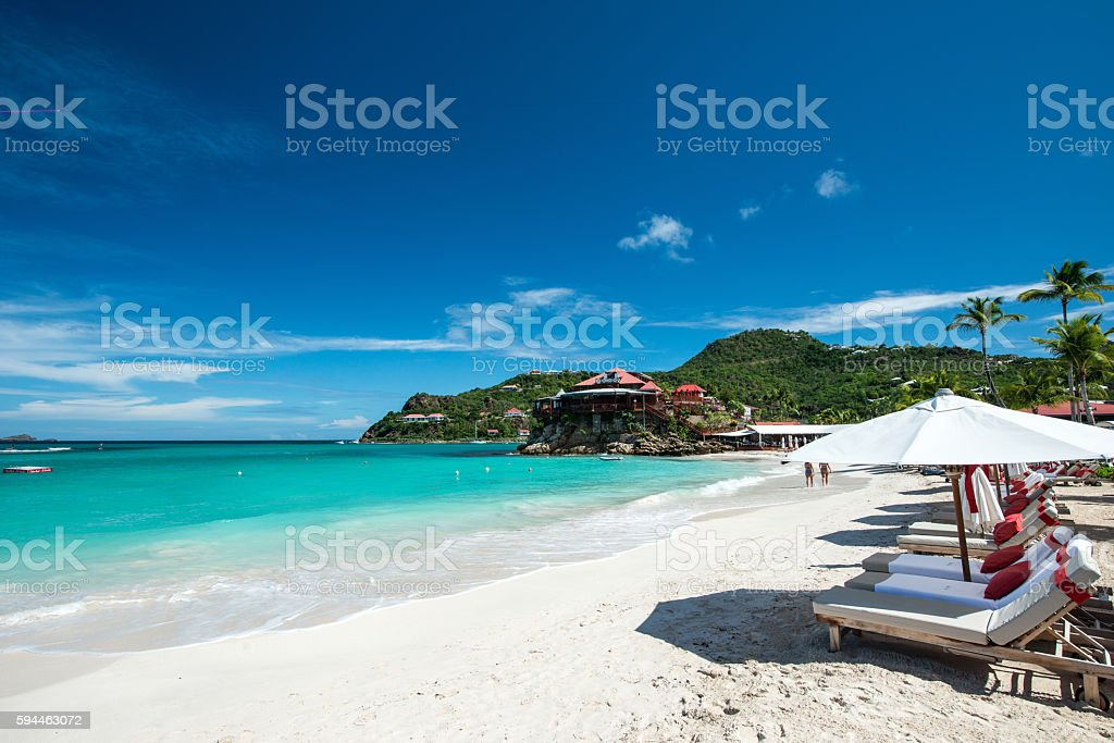 St Barth Island, Caribbean sea stock photo