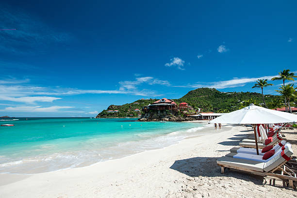 st barth island, caribbean sea - west direction stock pictures, royalty-free photos & images