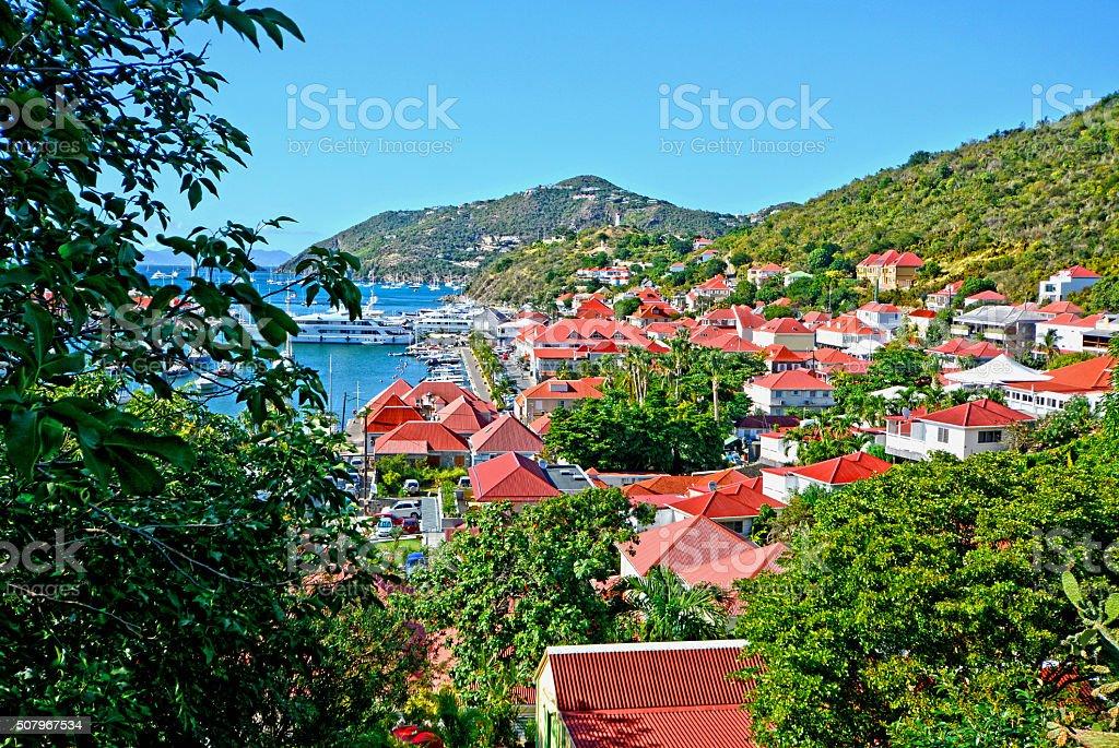St Barth island stock photo
