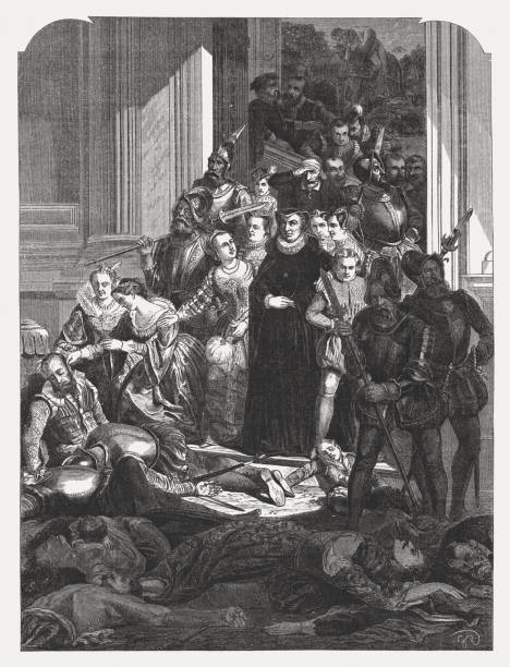 St.-Bartholomäus Massaker, 23. und 24. August 1572, veröffentlicht im Jahre 1865 – Foto