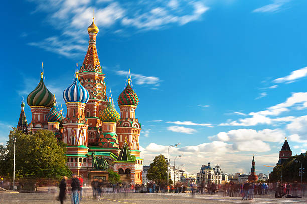 st. bashil's cathedral - russia stock pictures, royalty-free photos & images