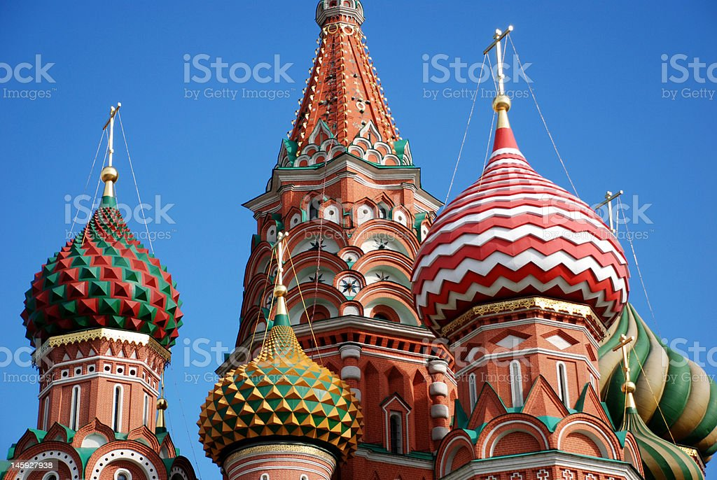 St. Basil cathedral in Moscow, Russia. royalty-free stock photo