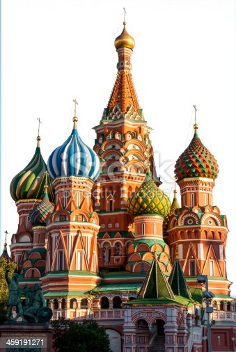 istock St Basil Cathedral, Moscow, isolated on white 459191271