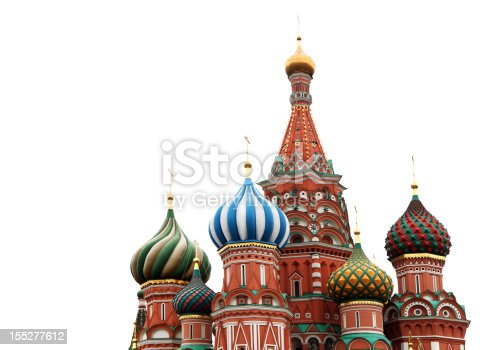 St. Basil Cathedral, Russia, Moscow. It is isolated.