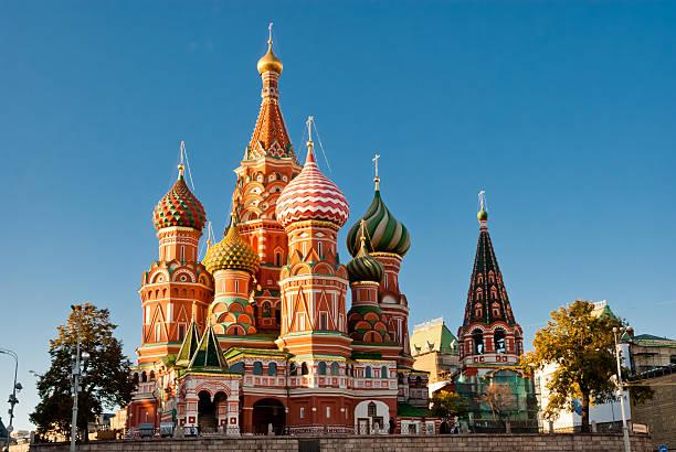 catedral de são basílio, praça vermelha de moscou - moscovo - fotografias e filmes do acervo