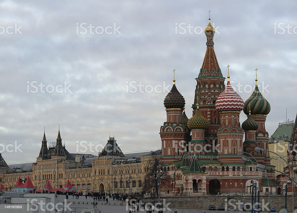 St Basil's and Red Square royalty-free stock photo
