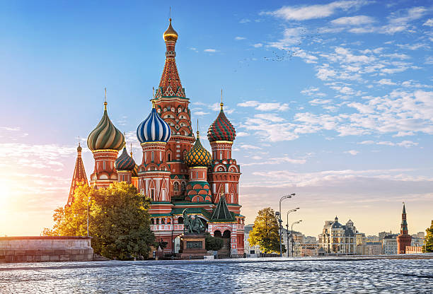 St. Basil's Cathedral, and nobody around 스톡 사진
