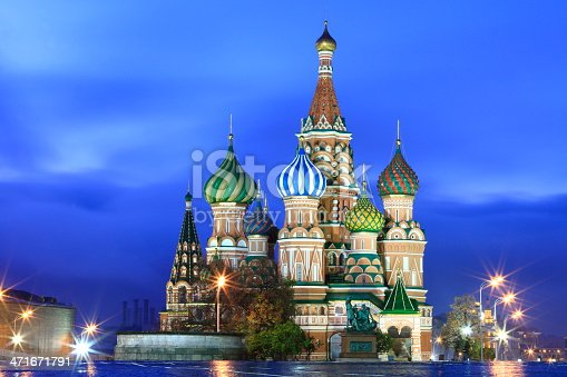 istock St Basil's Cathedral at dramatic sky - Red Square, Moscow 471671791