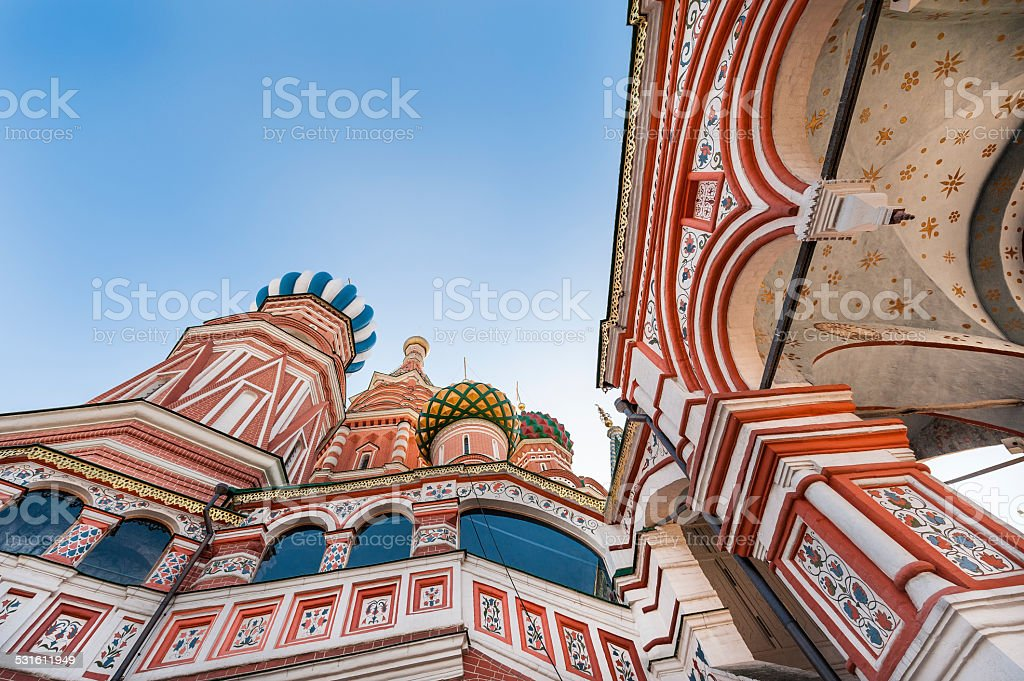St. Basil's Cathedral Detail stock photo