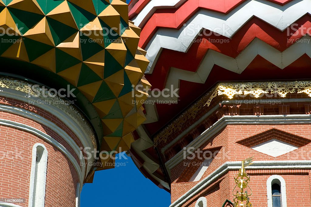 St. Basil's Cathedral Domes royalty-free stock photo