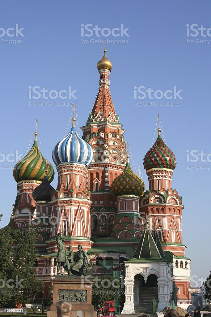 St Basil's Cathedral in Moscow stock photo