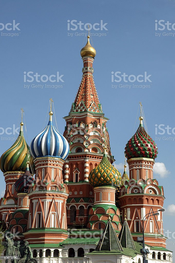 St. Basil's Cathedral in Red Square Moscow Russia royalty-free stock photo