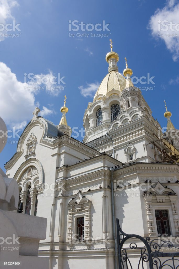 St. Basil's Cathedral in Sevastopol in the Crimea stock photo