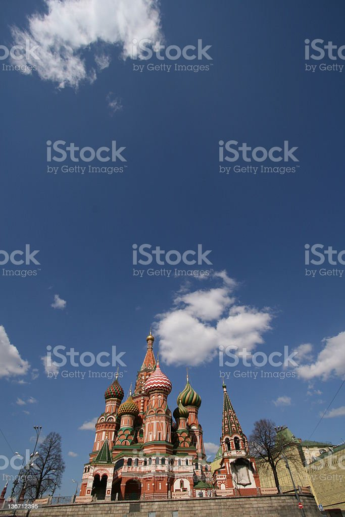 St Basil's Cathedral - Moscow royalty-free stock photo