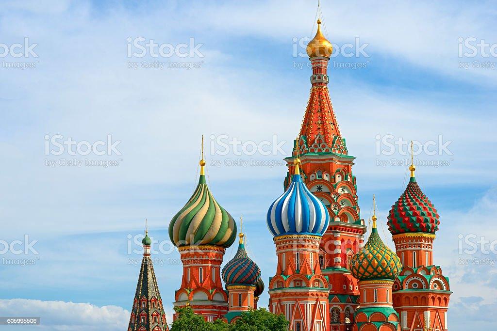 St. basil's cathedral auf dem Roten Platz in Moskau  – Foto