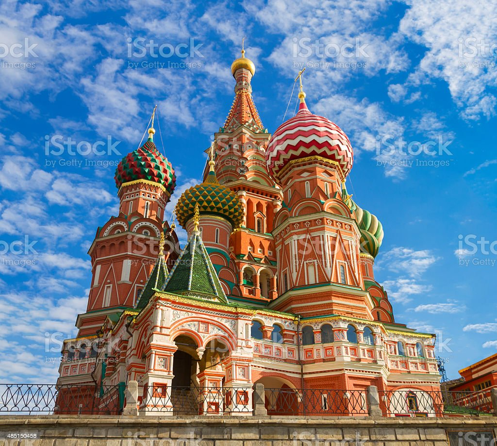 Храм Василия Блаженного на Красной Площади в Москве, Россия стоковое фото