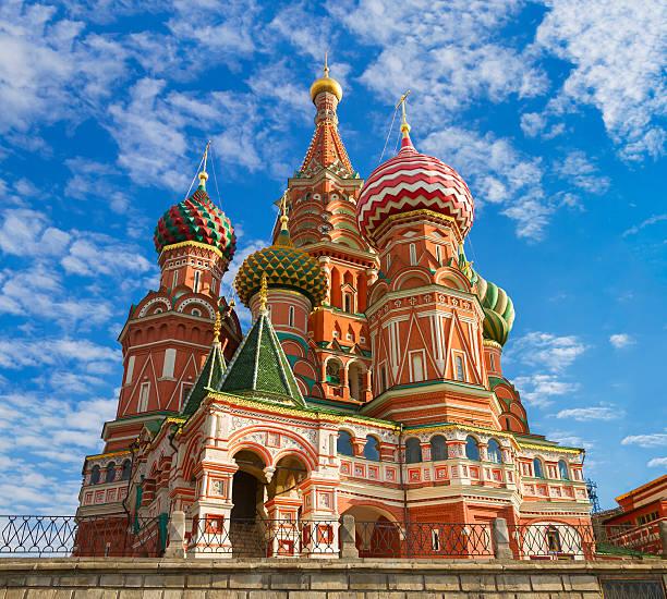 Cтоковое фото Храм Василия Блаженного на Красной Площади в Москве, Россия