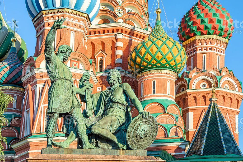 St Basil's cathedral on Red Square, Moscow, Russia stock photo